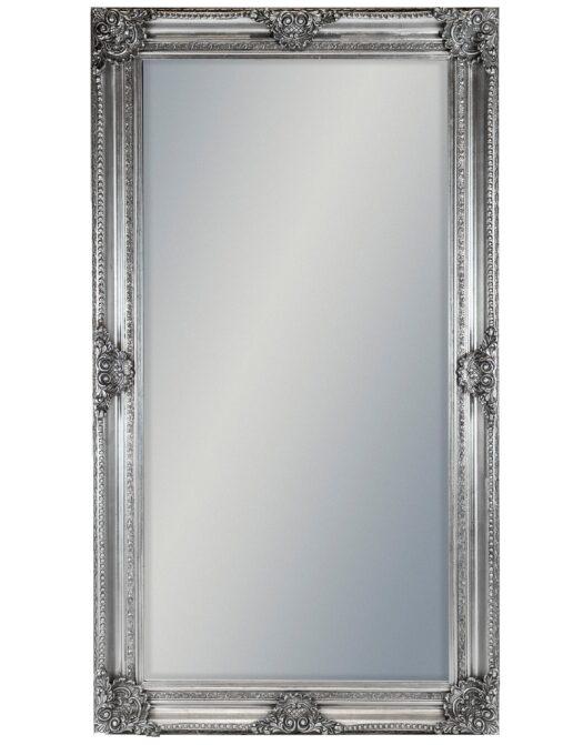 Large Silver Rectangular Classic Mirror