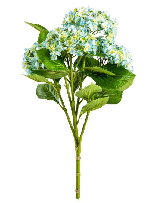 Ornamental Blue Hydrangea 5 Flower Stem