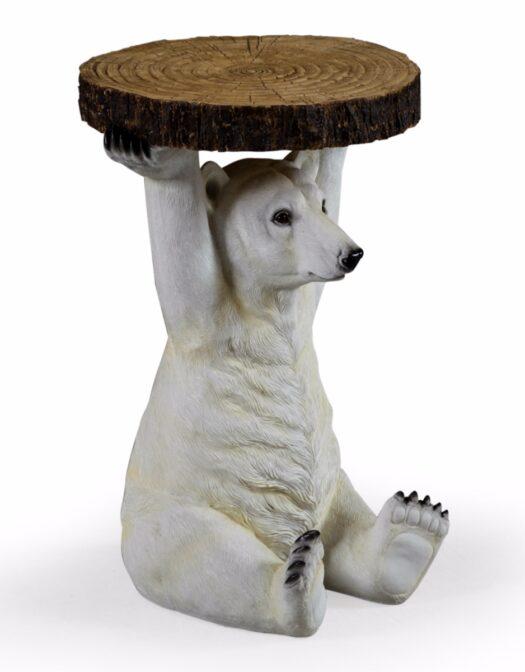 POLAR BEAR HOLDING TRUNK SLICE SIDE TABLE ITEM CODE- BD124