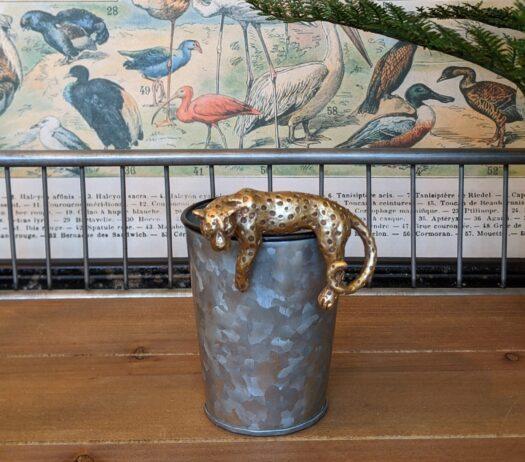 Gold Leopard Pot Hanger