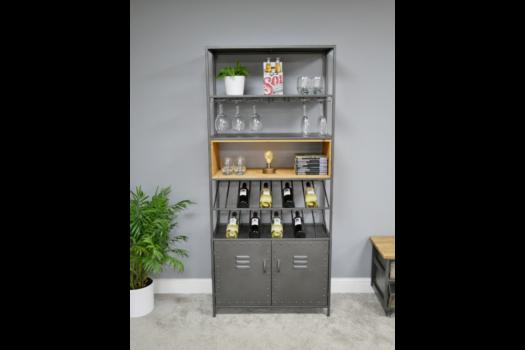Retro Industrial Wine Cabinet SN- 5987