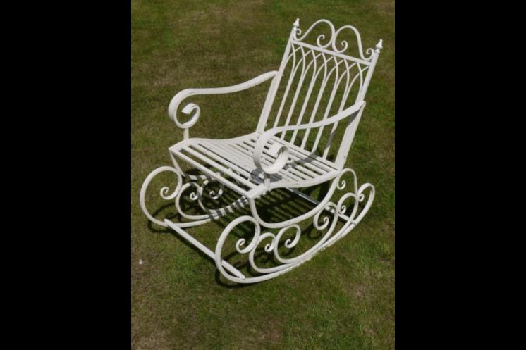 White Metal Rocking Chair