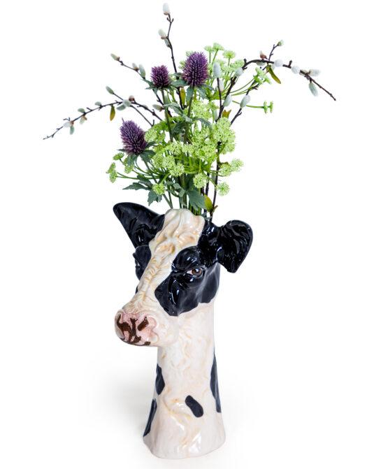 Ceramic Friesian Cow Head Vase
