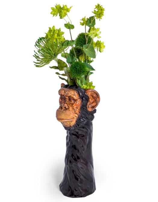 Ceramic Chimpanzee Head Vase