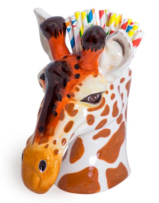 Ceramic Giraffe Head Storage Jar/Vase