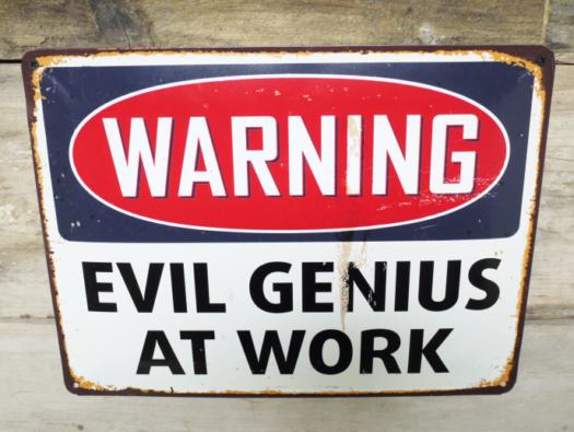 Sign (Evil Genius) SN- 5155