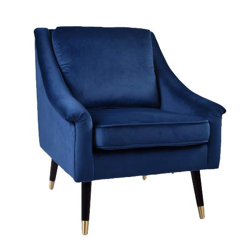 Native Blue Velvet Armchair