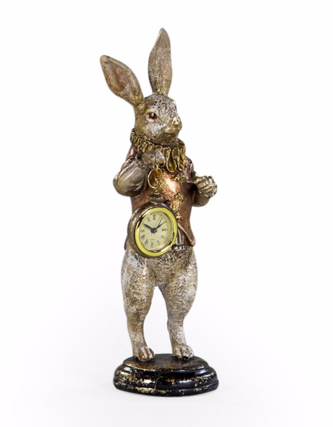 THE WHITE RABBIT STANDING CLOCK FIGURE - GOLD ITEM CODE- RM59