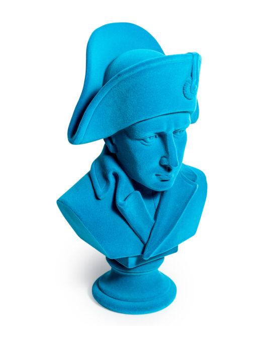 Teal Flock Large Napoleon Bust