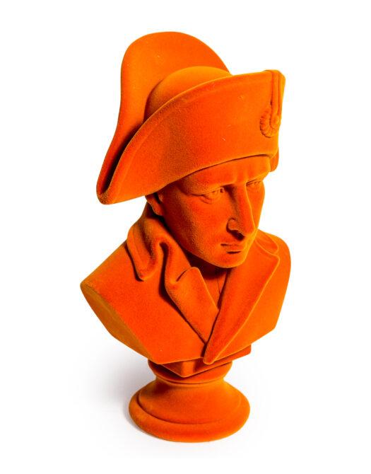 Bright Orange Flock Large Napoleon Bust