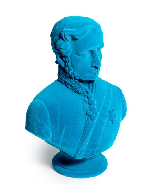 Teal Flock Large Prince Albert Bust
