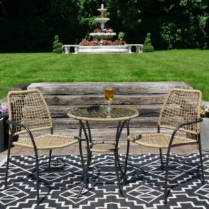 Amalfi Table and Chairs Bistro Set