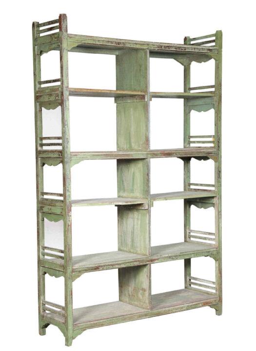 Vintage Indian Open Shelf Unit 626