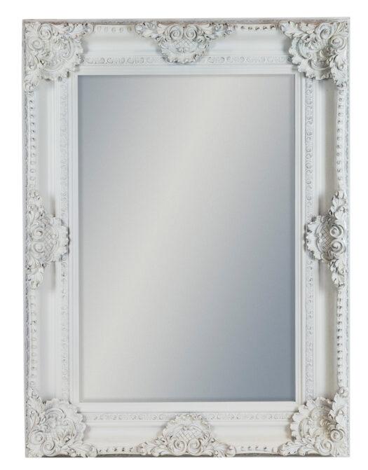 White Rectangular Classic Mirror