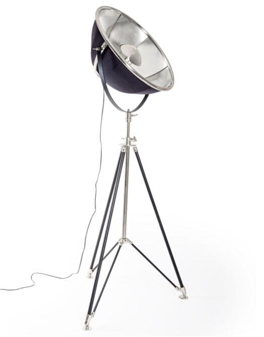 Black and Nickel Large Tripod Floor Lamp *2 CARTONS*
