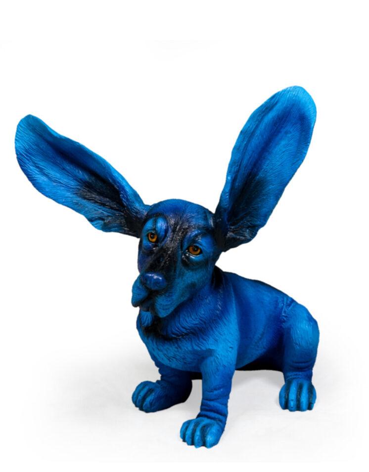 Electric Blue Surprised Basset