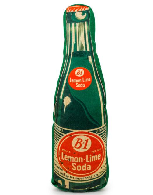 Green Soda Bottle Linen Cushion