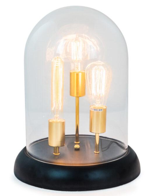Glass Dome 3 Light Retro Table Lamp
