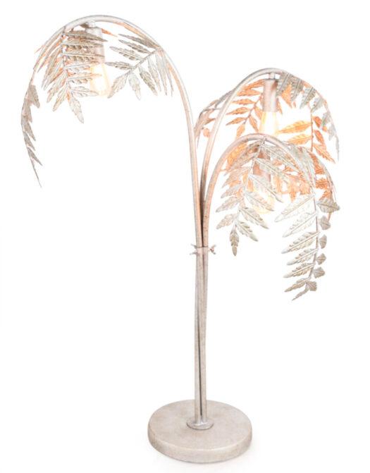 Antique Silver Palm Leaf Table Lamp