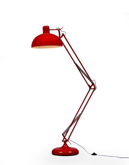 Red Extra Large Classic Desk Style Floor Lamp (Purple Fabric Flex)..*2 CARTONS*.