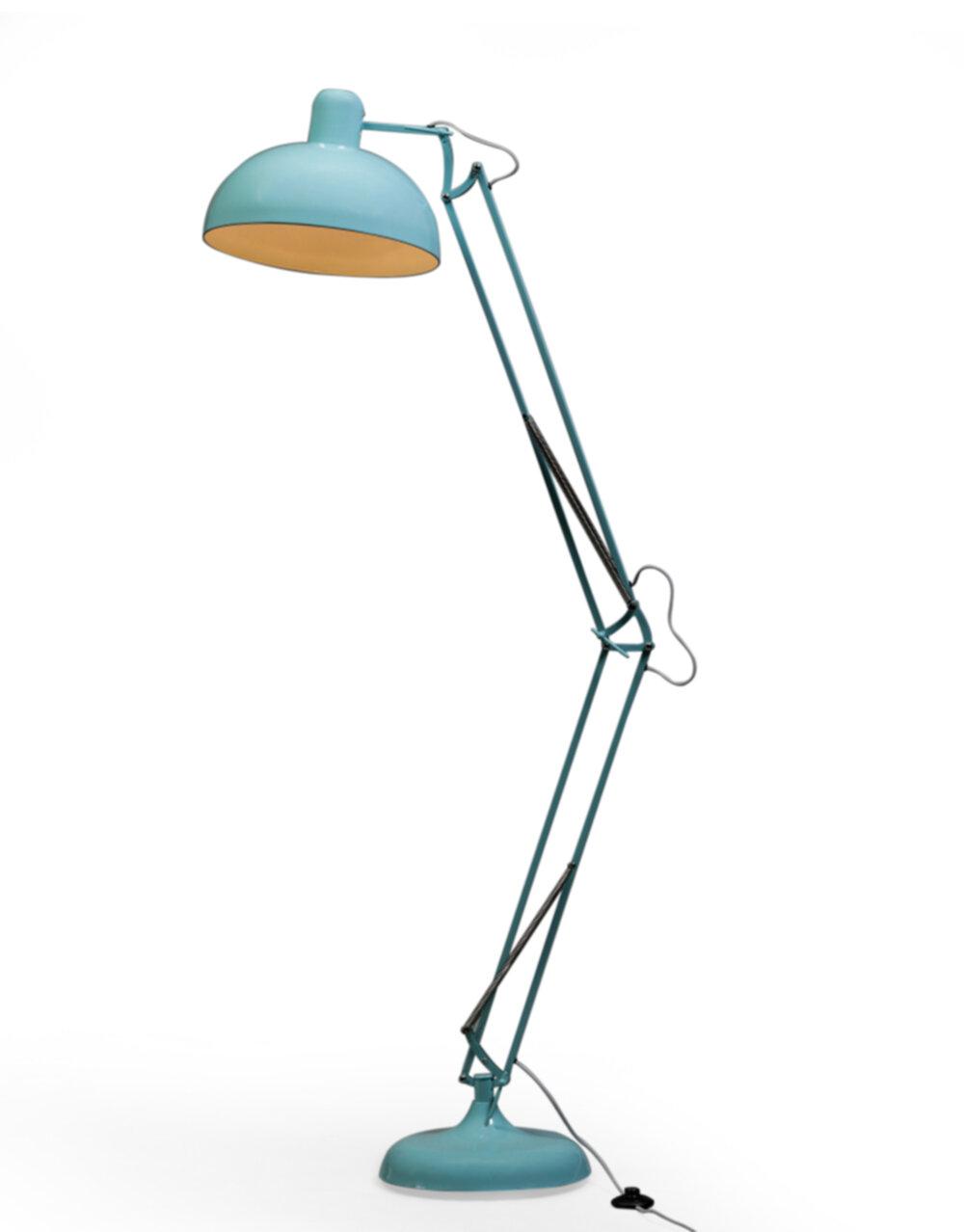 Sky Blue Extra Large Classic Desk Style Floor Lamp (Grey Fabric Flex)..*2 CARTON