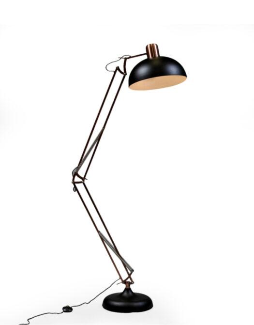 Matt Black/Vintage Copper Arms Extra Large Classic Desk Style Floor Lamp 2 BOXES