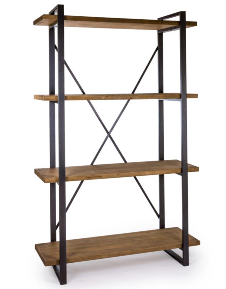 Camden Metal and Wood Large Shelf Unit