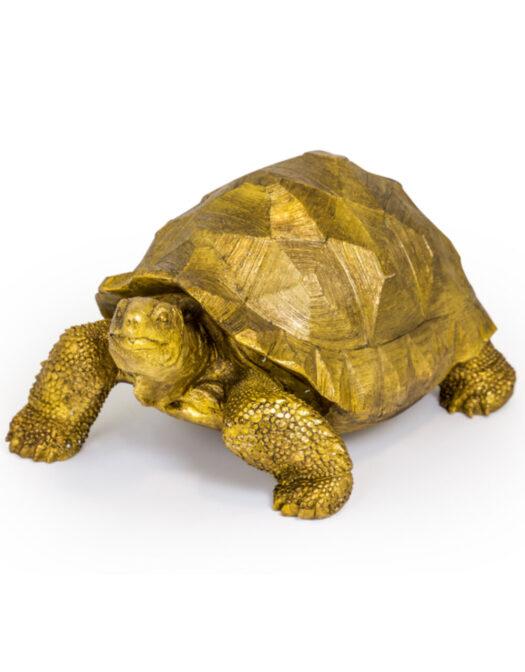 Extra Large Gold Tortoise Figure