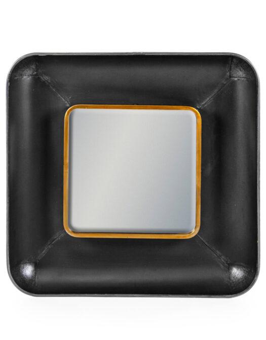 Black and Bronze Square Lincoln Wall Mirror