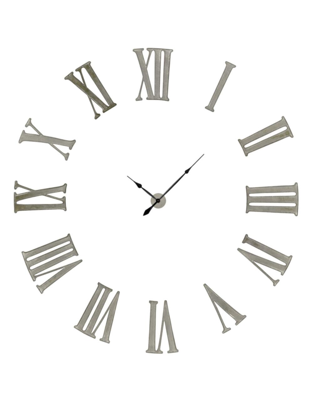 "Antiqued Silver Battersea"" Numeral Clock"""