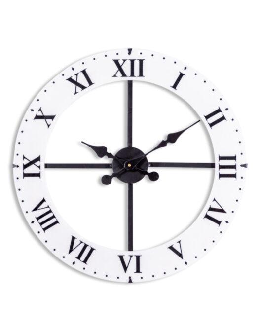 Medium Black and White Dial Wall Clock