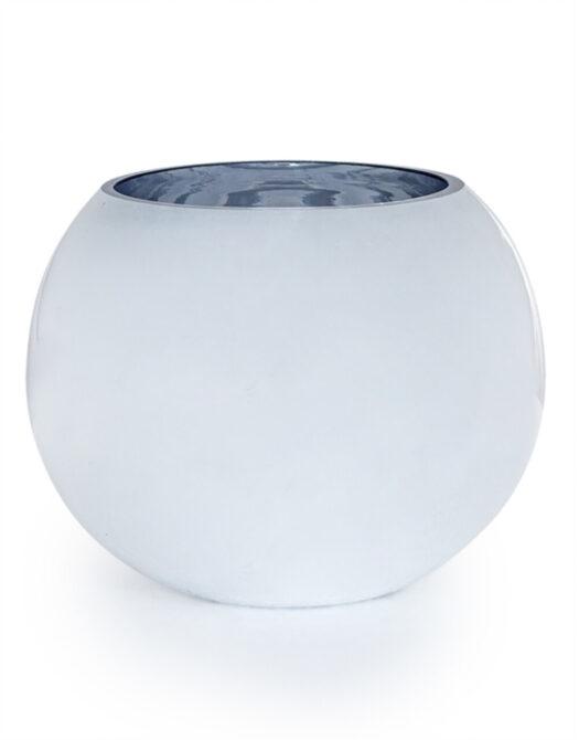 Medium Silvered Round Glass Bowl