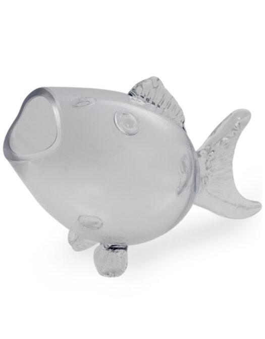 Large Glass Fish Shaped Bowl