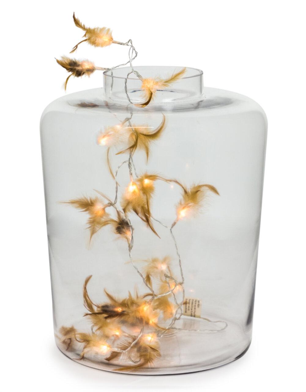 Large Clear Glass Jar Vase