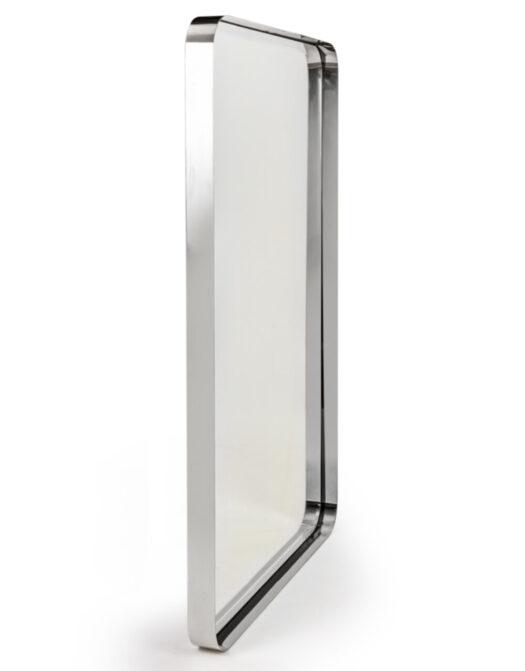 Chromed Stainless Steel Rectangular Holden Wall Mirror