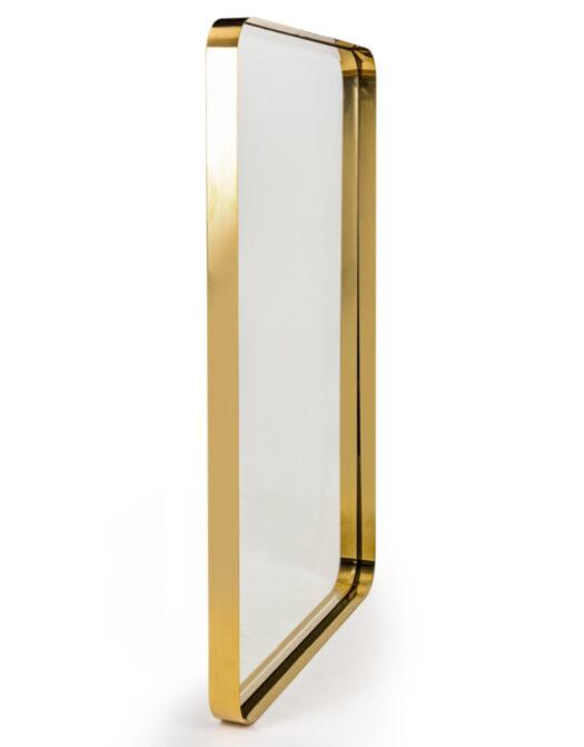 Brass Stainless Steel Rectangular Holden Wall Mirror