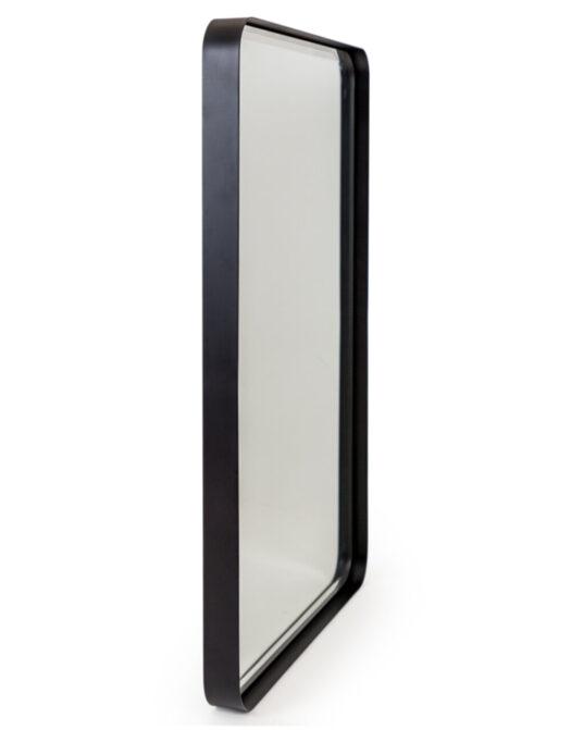 Matt Black Steel Rectangular Holden Wall Mirror
