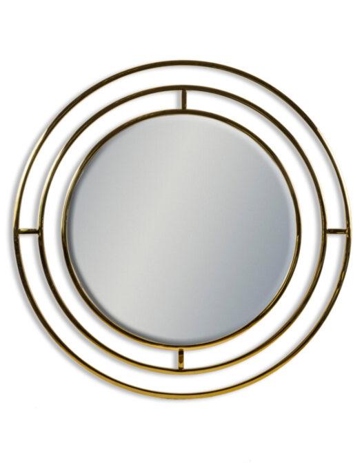 Brass Stainless Steel Circular Holden Wall Mirror
