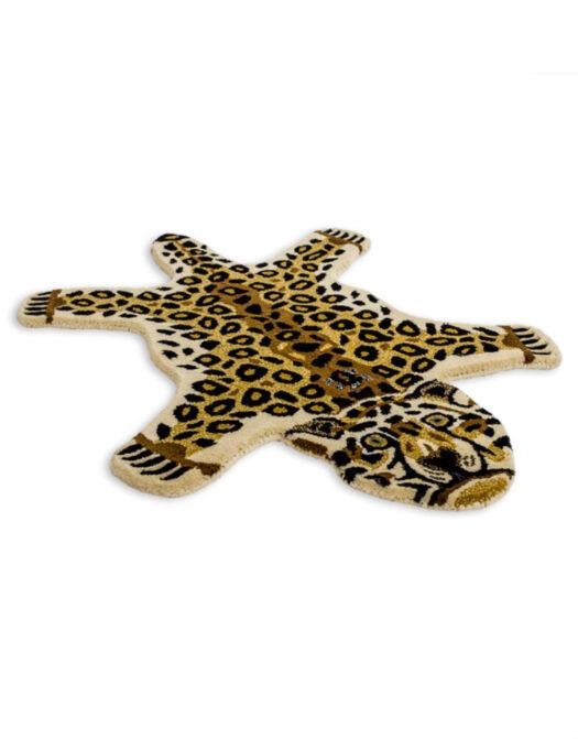 "Hand Tufted Small Leopard Skin"" Woollen Rug"""