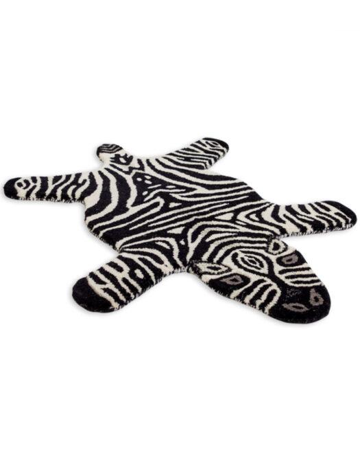 "Hand Tufted Small Zebra Skin"" Woollen Rug"""
