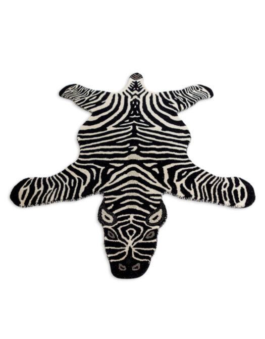 "Hand Tufted Extra Large Zebra Skin"" Woollen Rug"""