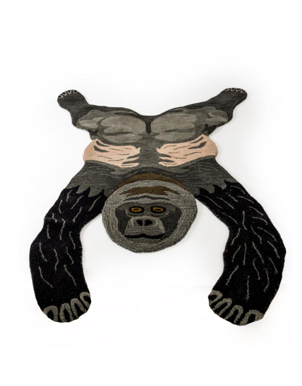 """Hand Tufted Extra Large Gorilla Skin"""" Woollen Rug"""""""