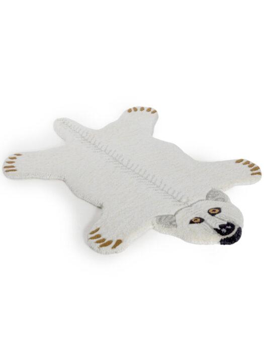 "Hand Tufted Small Polar Bear Skin"" Woollen Rug"""