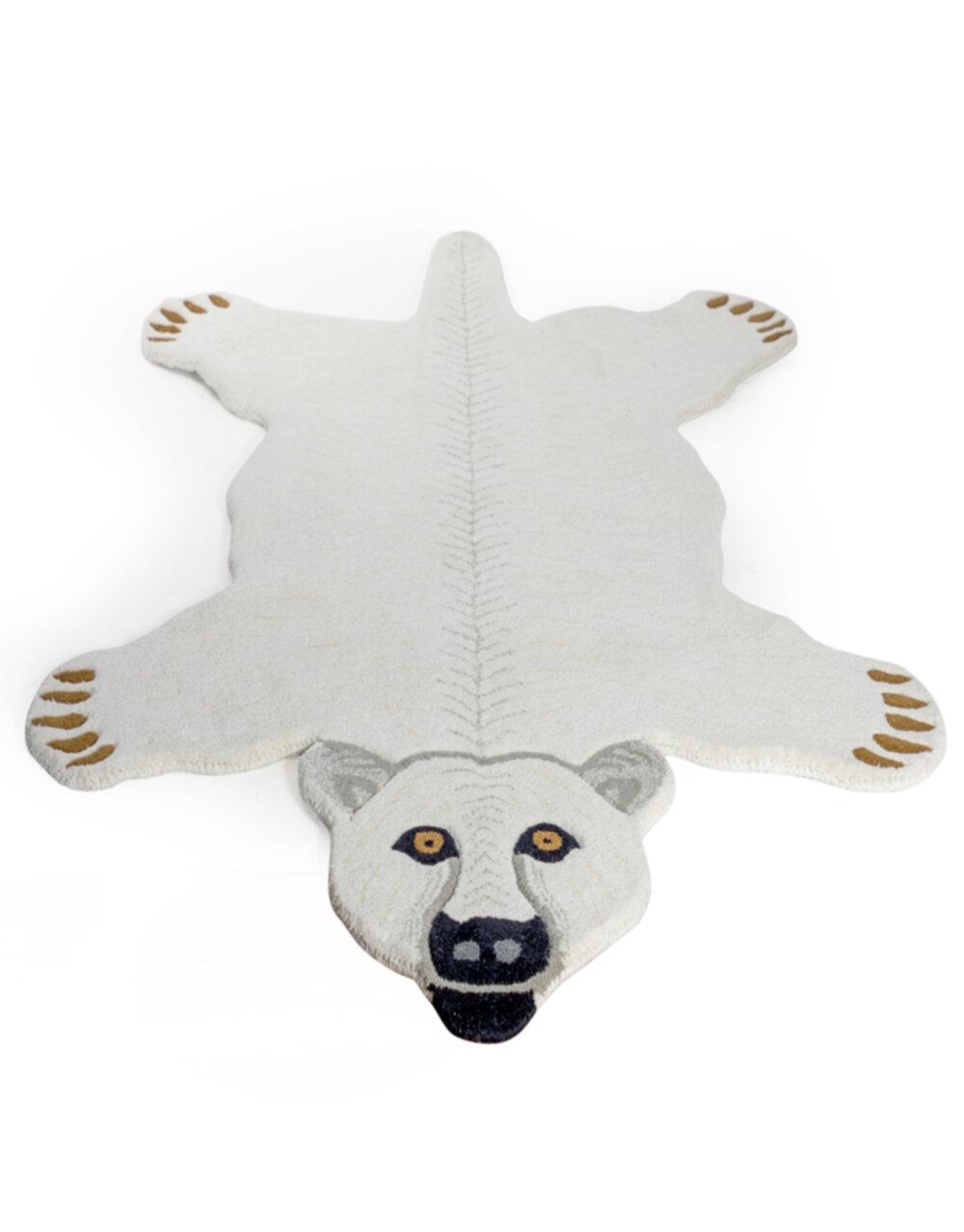 "Hand Tufted Extra Large Polar Bear Skin"" Woollen Rug"""