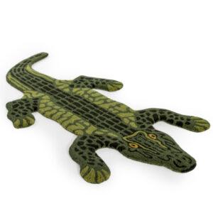"""Hand Tufted Small Alligator Skin"""" Woollen Rug"""""""