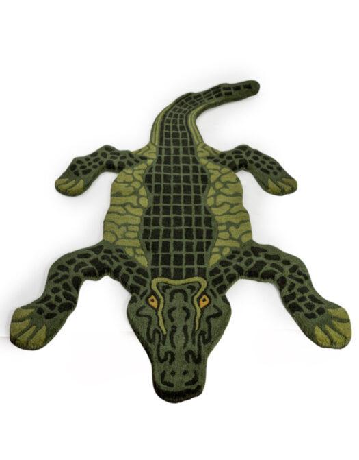 "Hand Tufted Extra Large Alligator Skin"" Woollen Rug"""