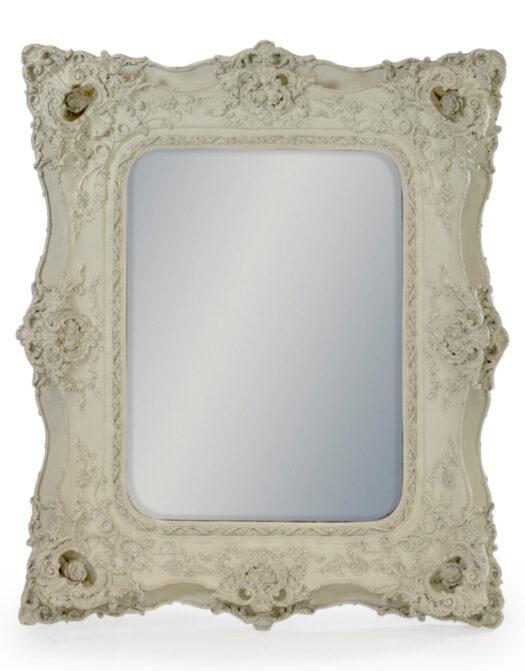 White Classic Square French Mirror