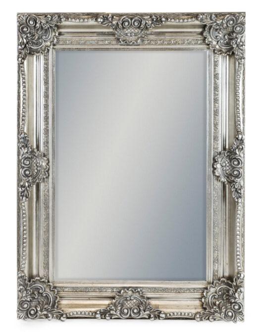 Silver Rectangular Classic Mirror