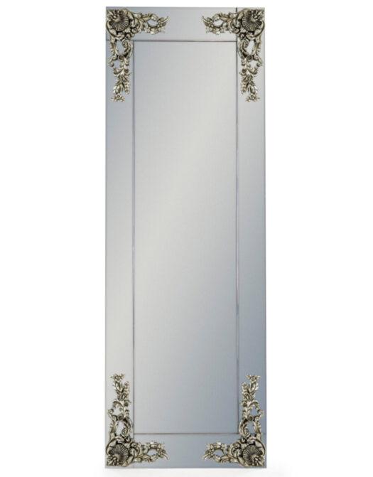 Large Rectangular Frameless Mirror with 'Metallic' Corner Detail