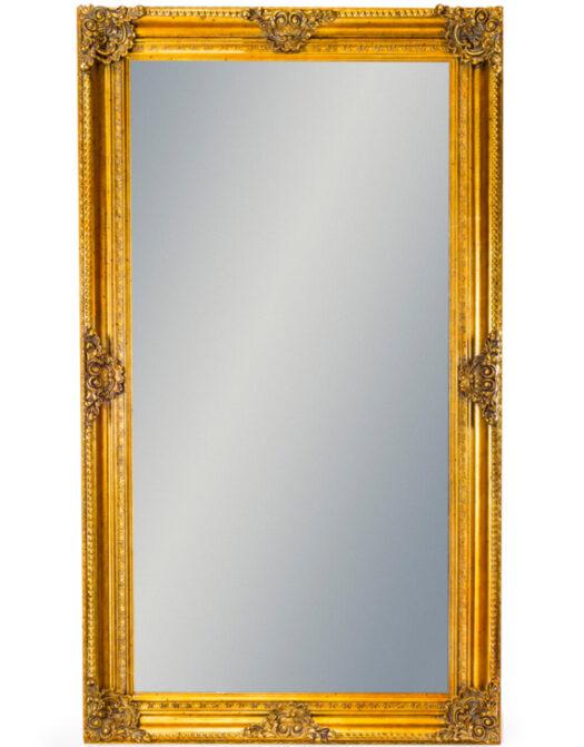 Large Gold Rectangular Classic Mirror